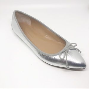 Banana Republic Silver Pointy Toe Flats 6